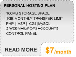 More Info on Personal Hosting Plan